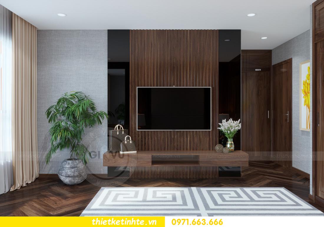 thiết kế nội thất chung cư Metropolis căn 01 tòa M1 09