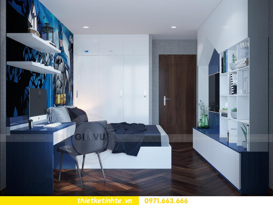 thiết kế nội thất chung cư Metropolis căn 01 tòa M1 14