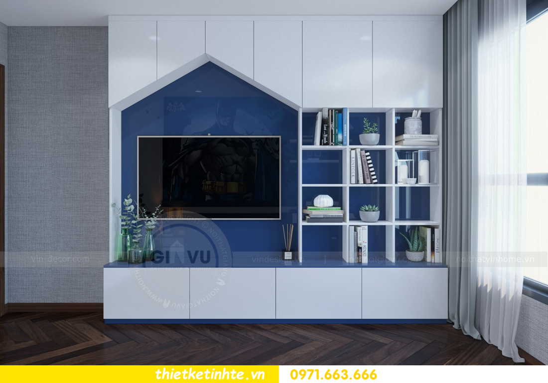 thiết kế nội thất chung cư Metropolis căn 01 tòa M1 16