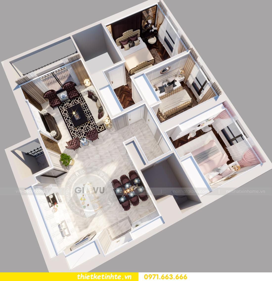 thiết kế nội thất chung cư Vinhomes Metropolis tòa M1 01