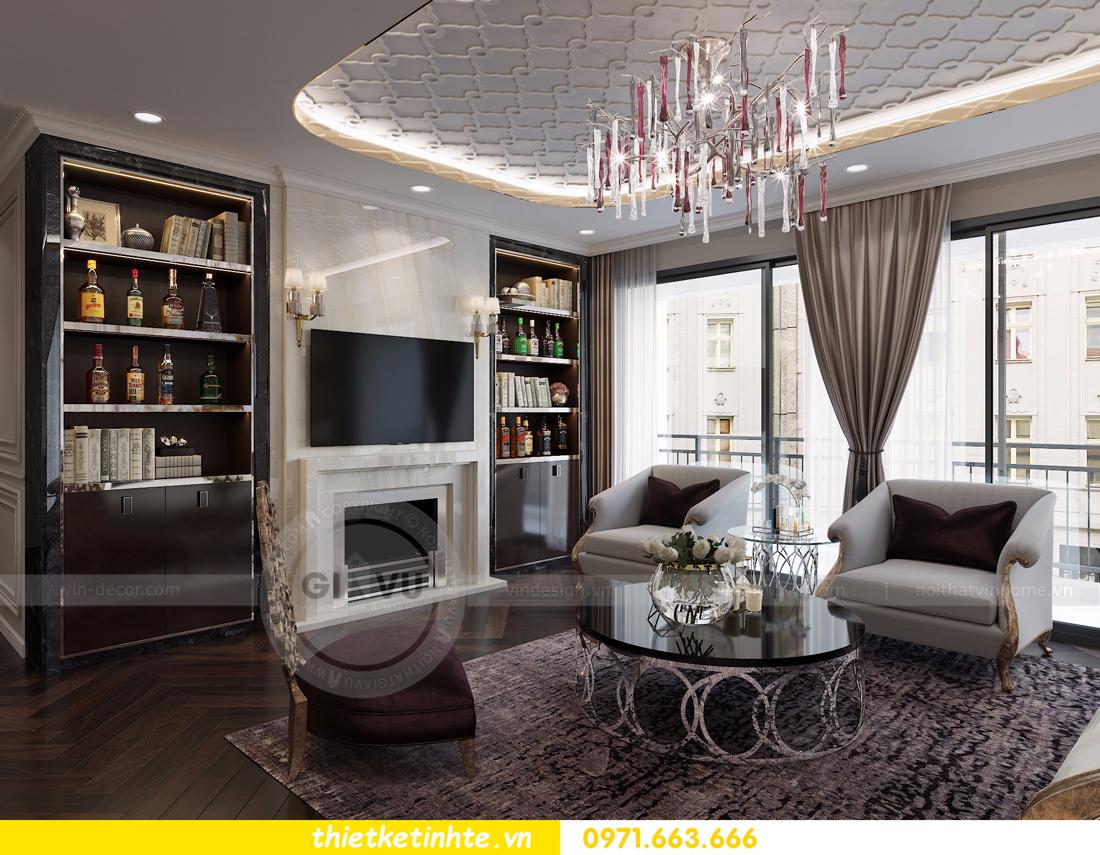 thiết kế nội thất Vinhomes D'Capitale toàn C3 căn 04 04