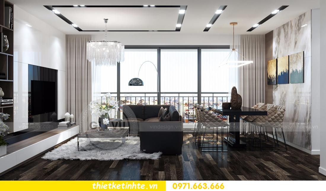 thiết kế nội thất Vinhomes D Capitale tòa C3 căn 06 thiết kế tinh tế 02