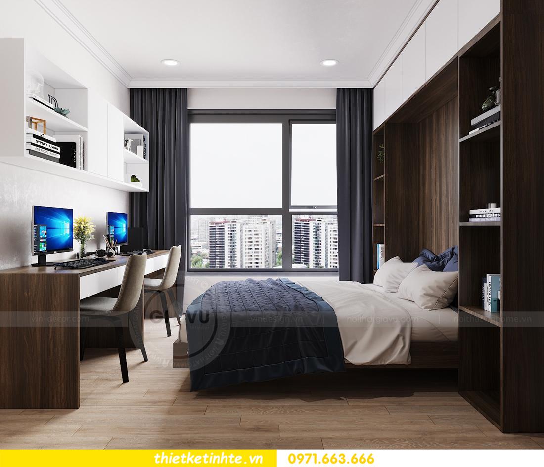 thiết kế nội thất căn hộ hiện đại anh bách chung cư Seasons Avenue 18