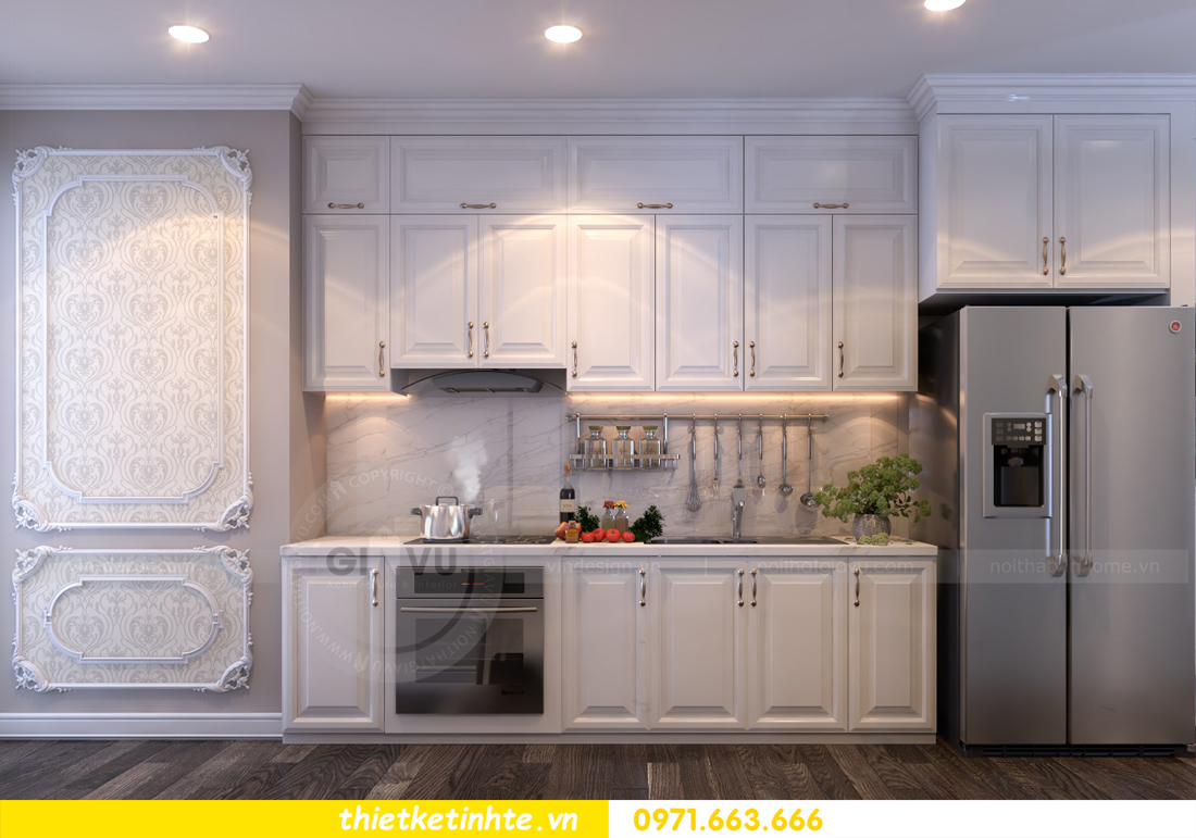 thiết kế nội thất chung cư Vinhomes Gardenia tòa A2 căn 06 chị Nụ 02