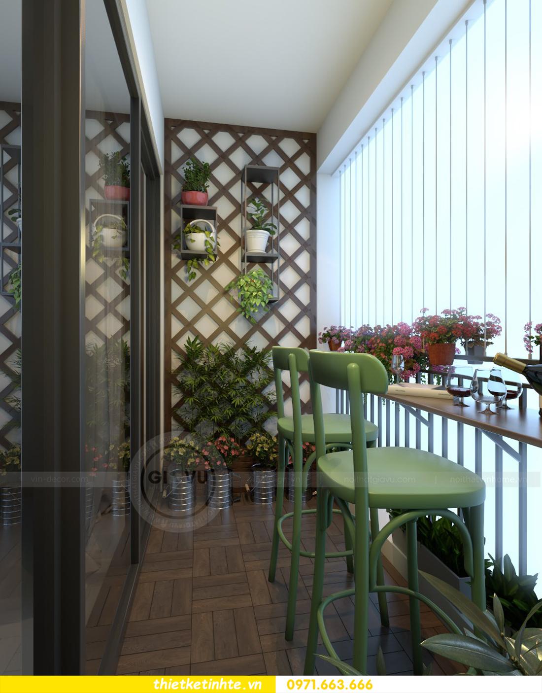 thiết kế nội thất chung cư Vinhomes Gardenia tòa A2 căn 06 chị Nụ 09