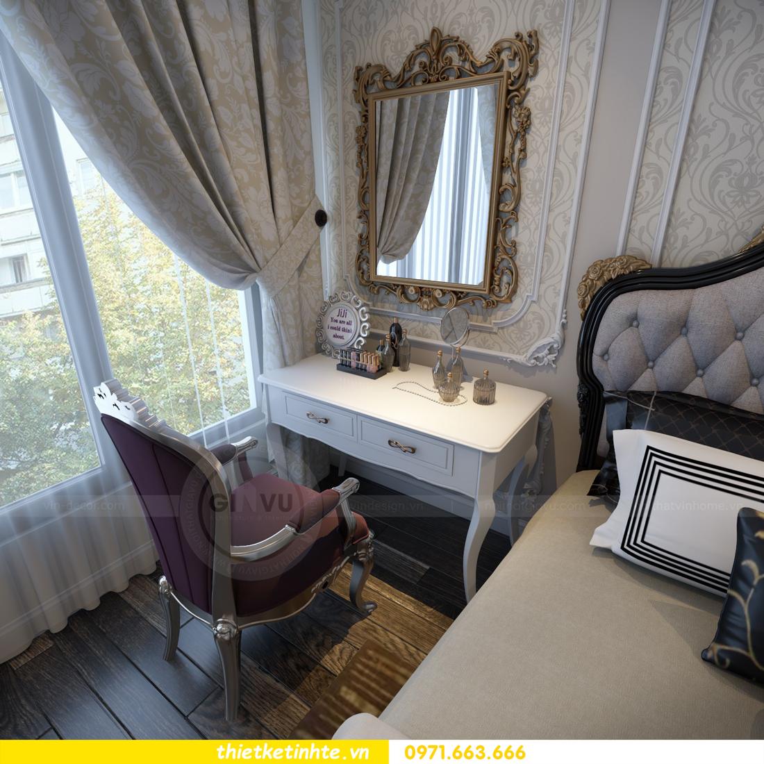 thiết kế nội thất chung cư Vinhomes Gardenia tòa A2 căn 06 chị Nụ 13
