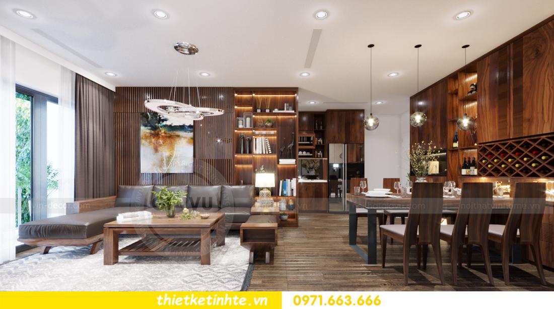 thiết kế nội thất chung cư Vinhomes Trần Duy Hưng căn 08 C1 001