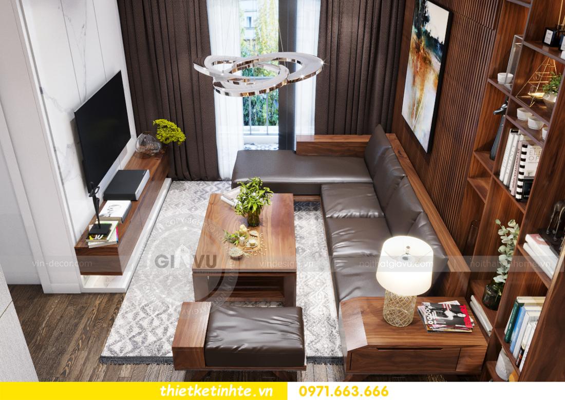 thiết kế nội thất chung cư Vinhomes Trần Duy Hưng căn 08 C1 01