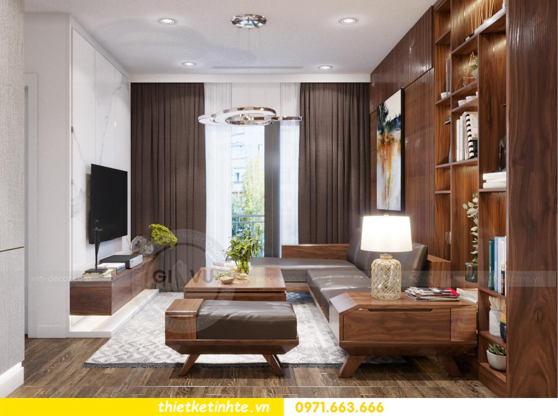thiết kế nội thất chung cư Vinhomes Trần Duy Hưng căn 08 C1 02