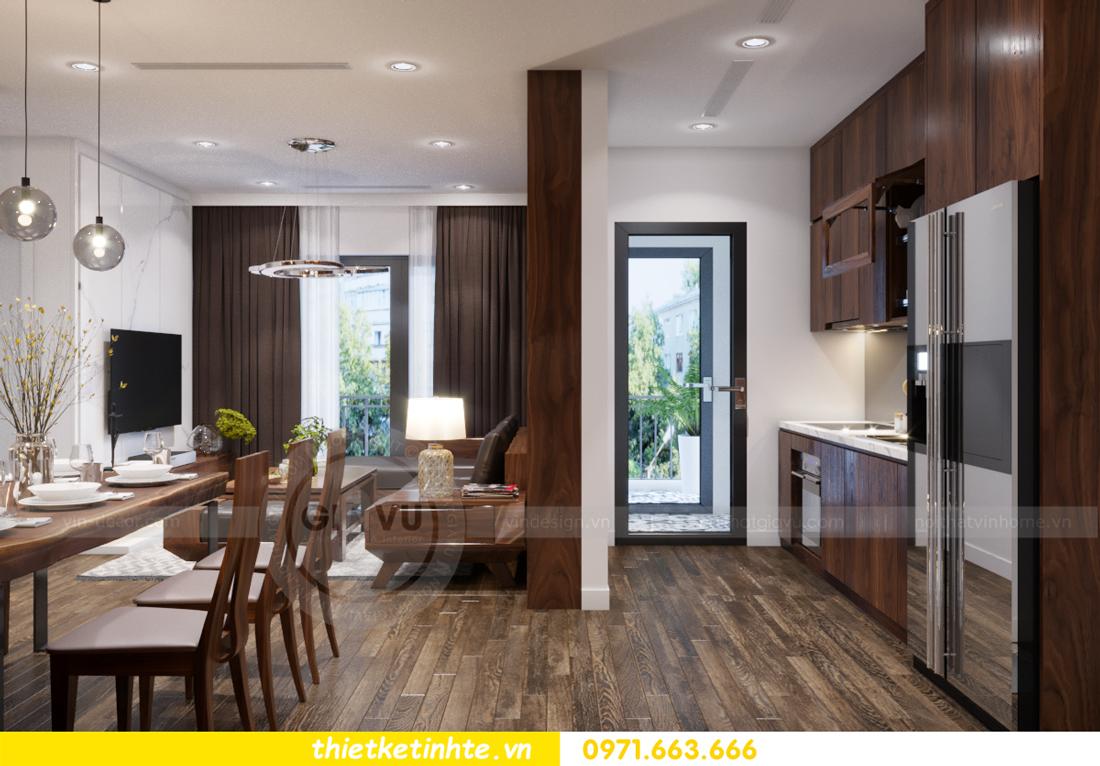 thiết kế nội thất chung cư Vinhomes Trần Duy Hưng căn 08 C1 07