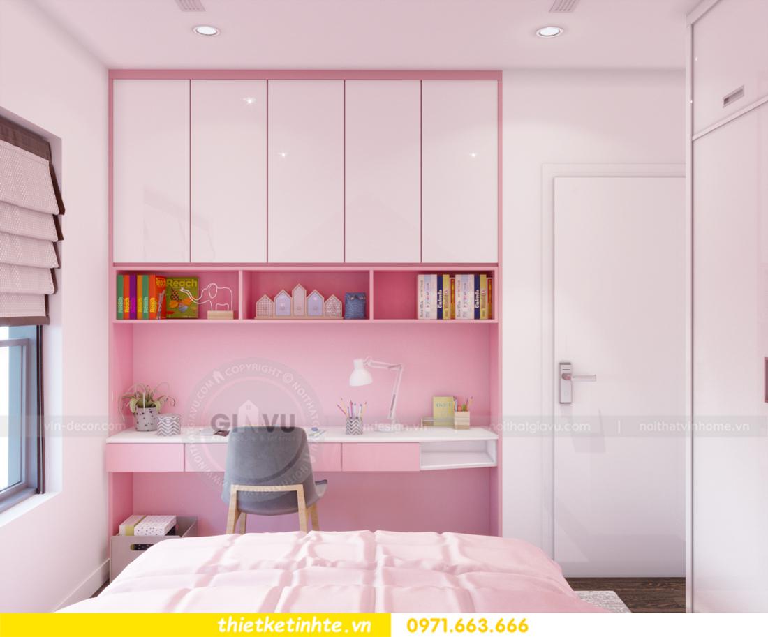 thiết kế nội thất chung cư Vinhomes Trần Duy Hưng căn 08 C1 16