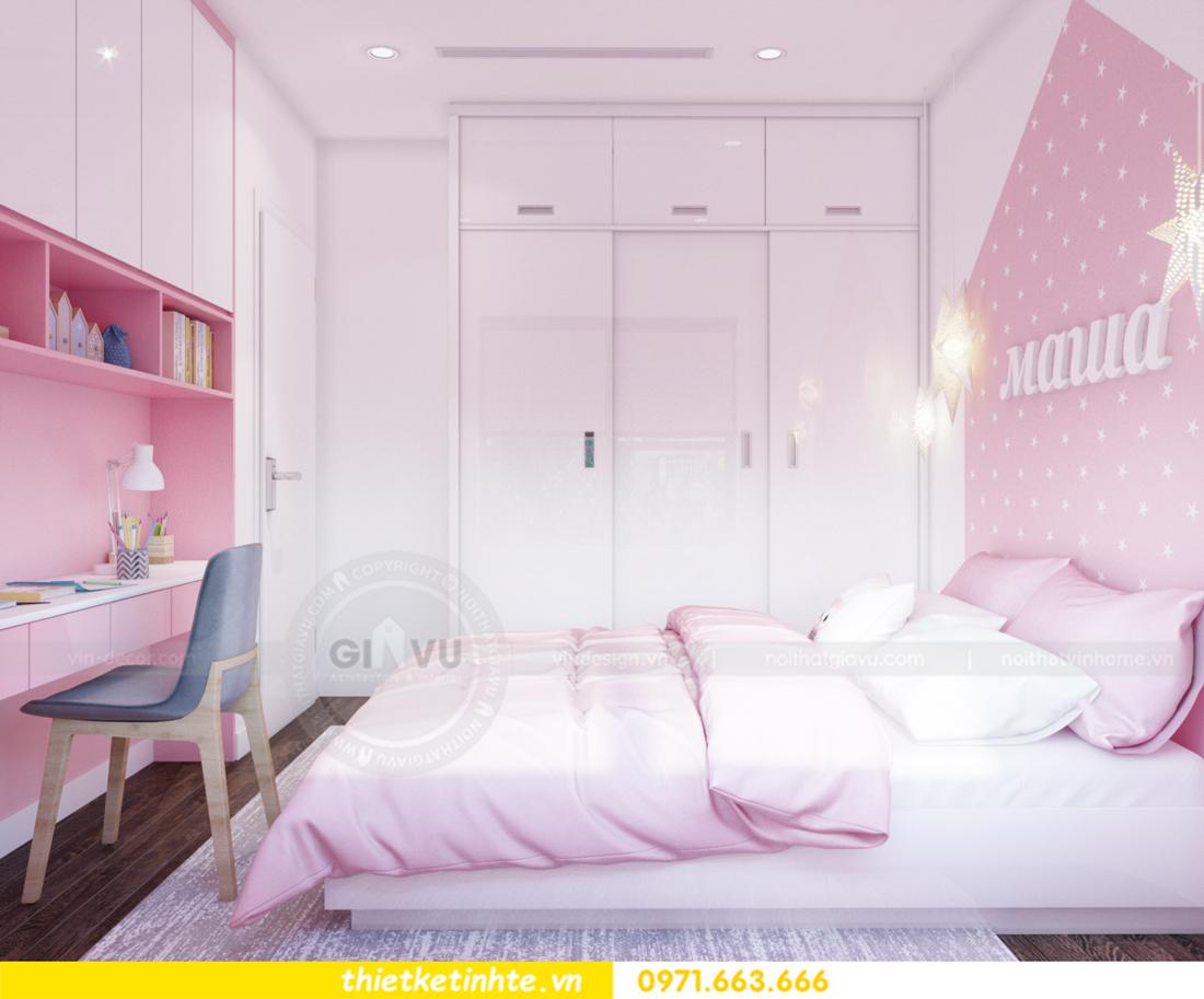 thiết kế nội thất chung cư Vinhomes Trần Duy Hưng căn 08 C1 17
