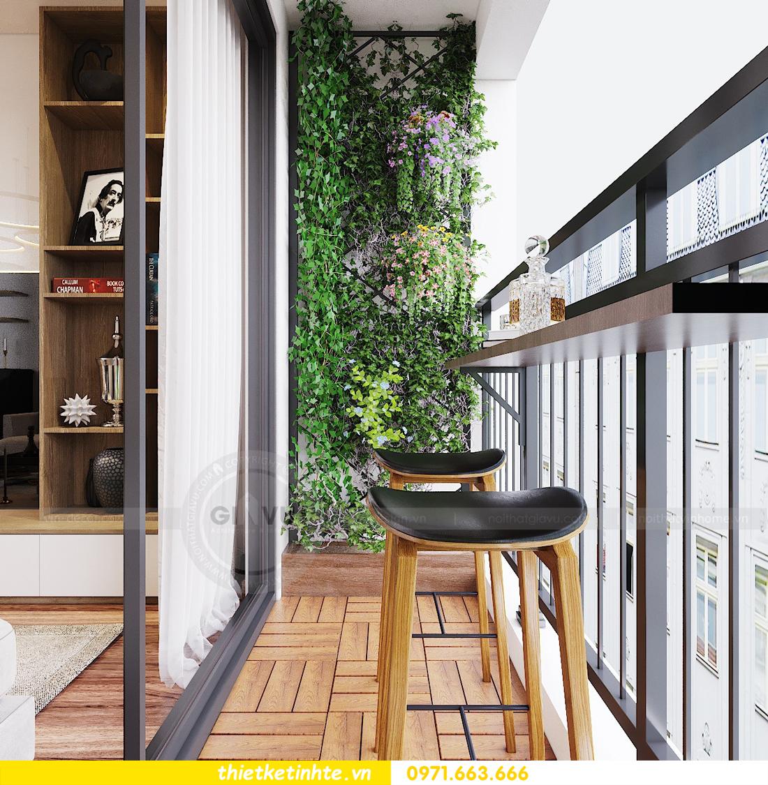 thiết kế nội thất chung cư Ngoại Giao Đoàn N01 T5 anh Dương 06