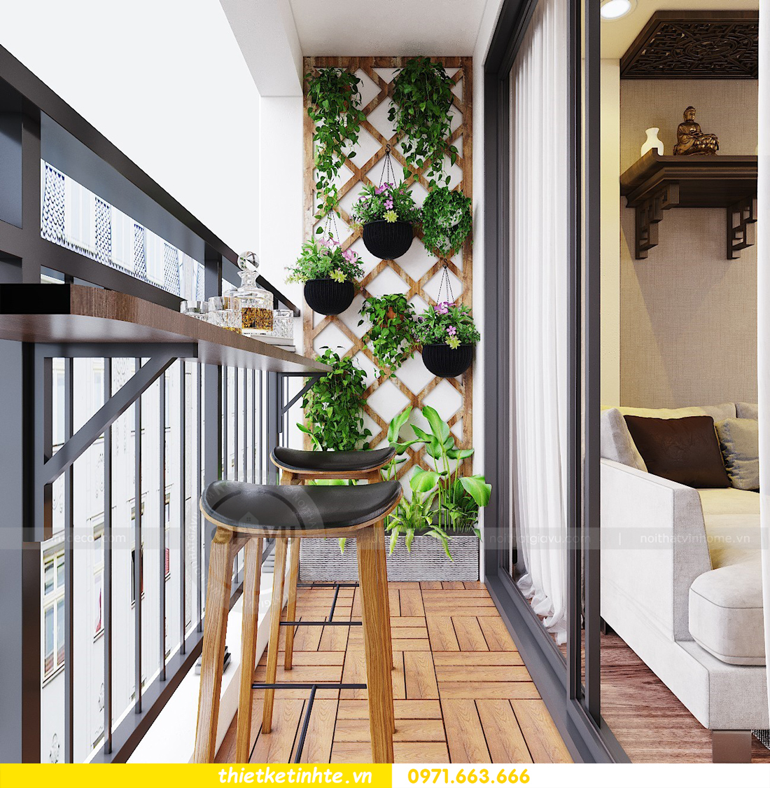 thiết kế nội thất chung cư Ngoại Giao Đoàn N01 T5 anh Dương 07