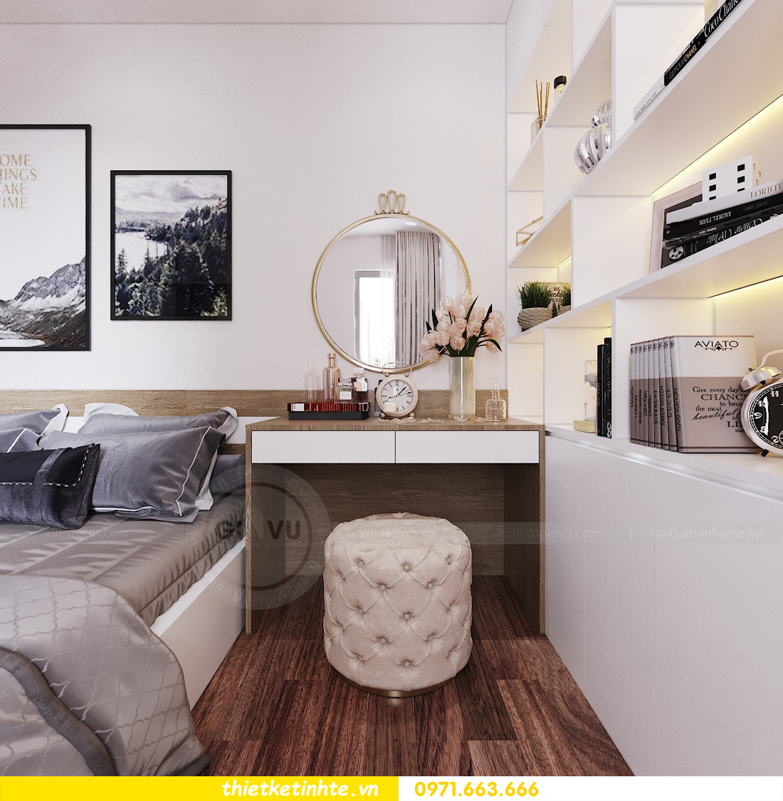 thiết kế nội thất chung cư Ngoại Giao Đoàn N01 T5 anh Dương 11
