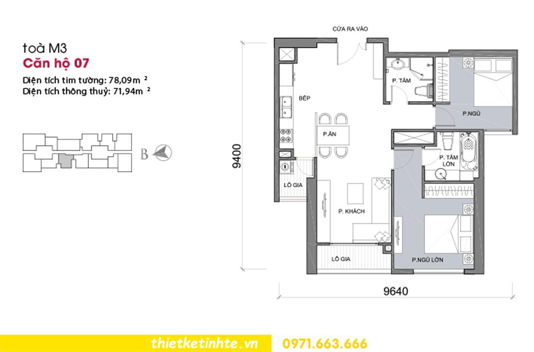 mặt bằng căn hộ 07 tòa M3 chung cư Vinhomes Metropolis