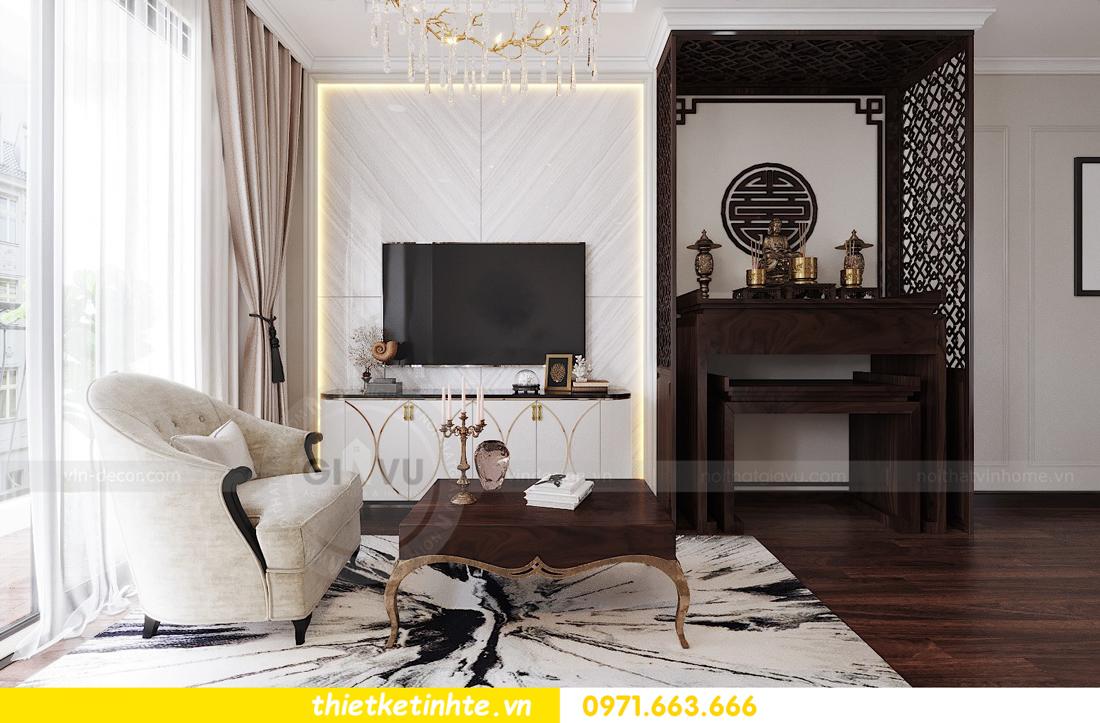 thiết kế nội thất căn hộ DCapitale tòa C1 căn 11 03