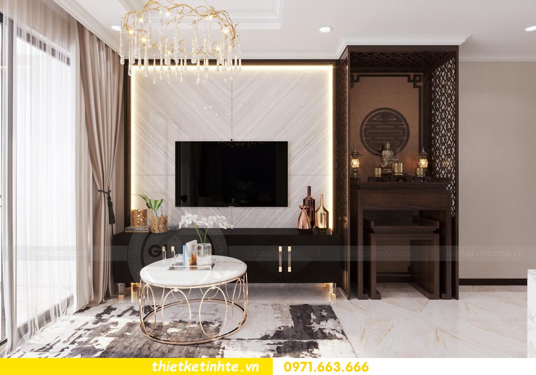 thiết kế nội thất căn hộ Vinhomes Trần Duy Hưng tòa C1 04