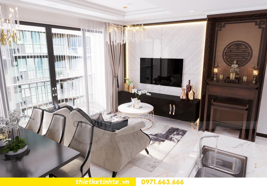 thiết kế nội thất căn hộ Vinhomes Trần Duy Hưng tòa C1 05