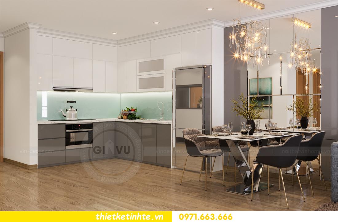 thiết kế nội thất căn hộ Vinhomes Park Hill 8 căn hộ 02 nhà chị Vân 02