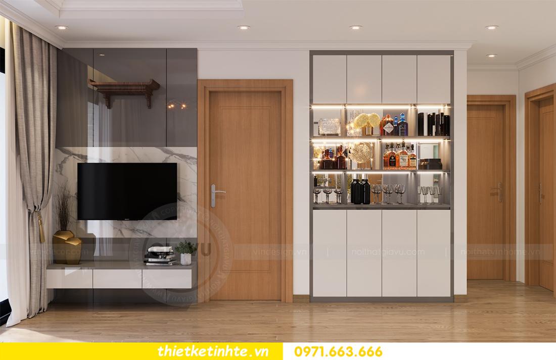 thiết kế nội thất căn hộ Vinhomes Park Hill 8 căn hộ 02 nhà chị Vân 04