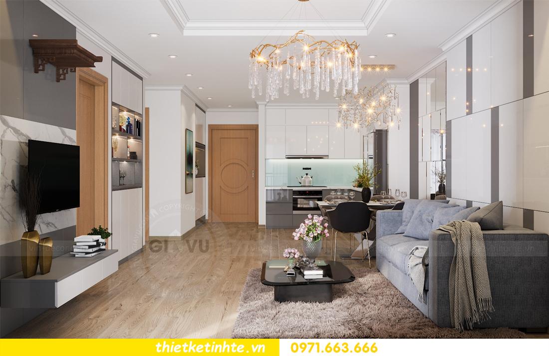 thiết kế nội thất căn hộ Vinhomes Park Hill 8 căn hộ 02 nhà chị Vân 05