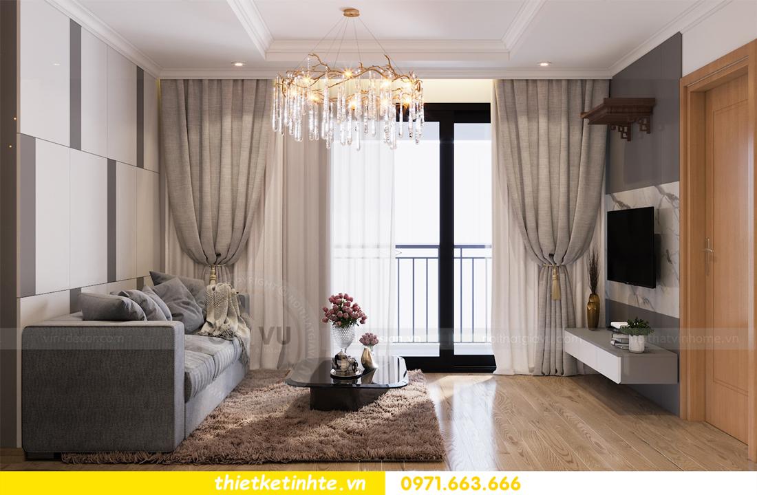 thiết kế nội thất căn hộ Vinhomes Park Hill 8 căn hộ 02 nhà chị Vân 06