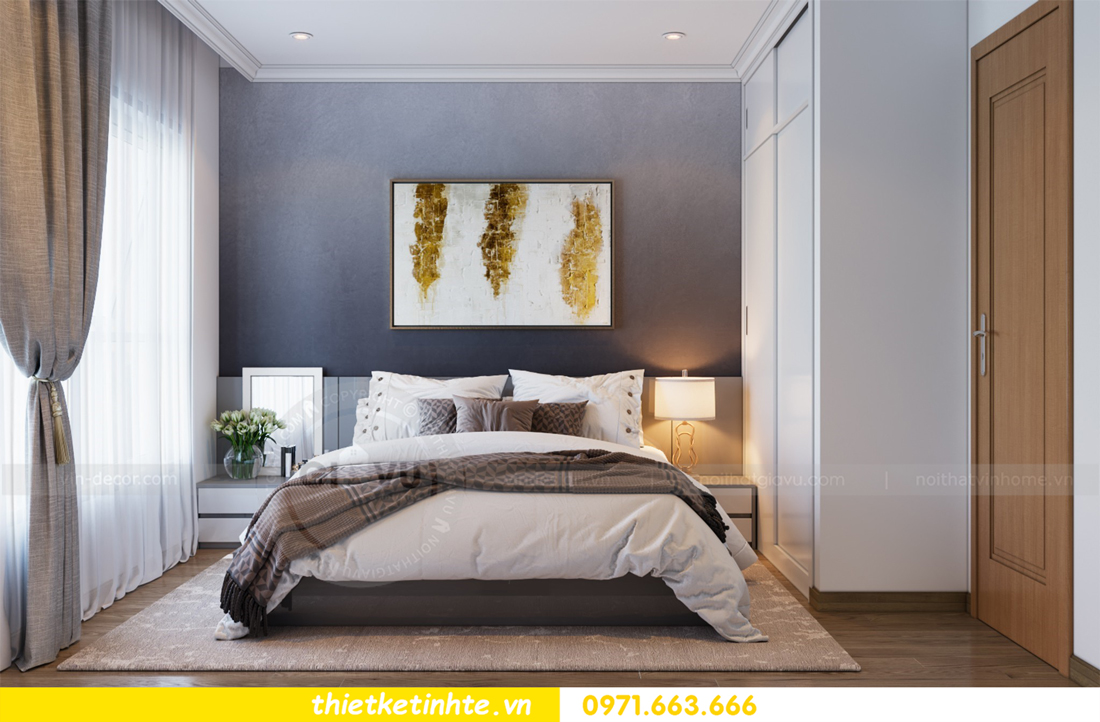 thiết kế nội thất căn hộ Vinhomes Park Hill 8 căn hộ 02 nhà chị Vân 07
