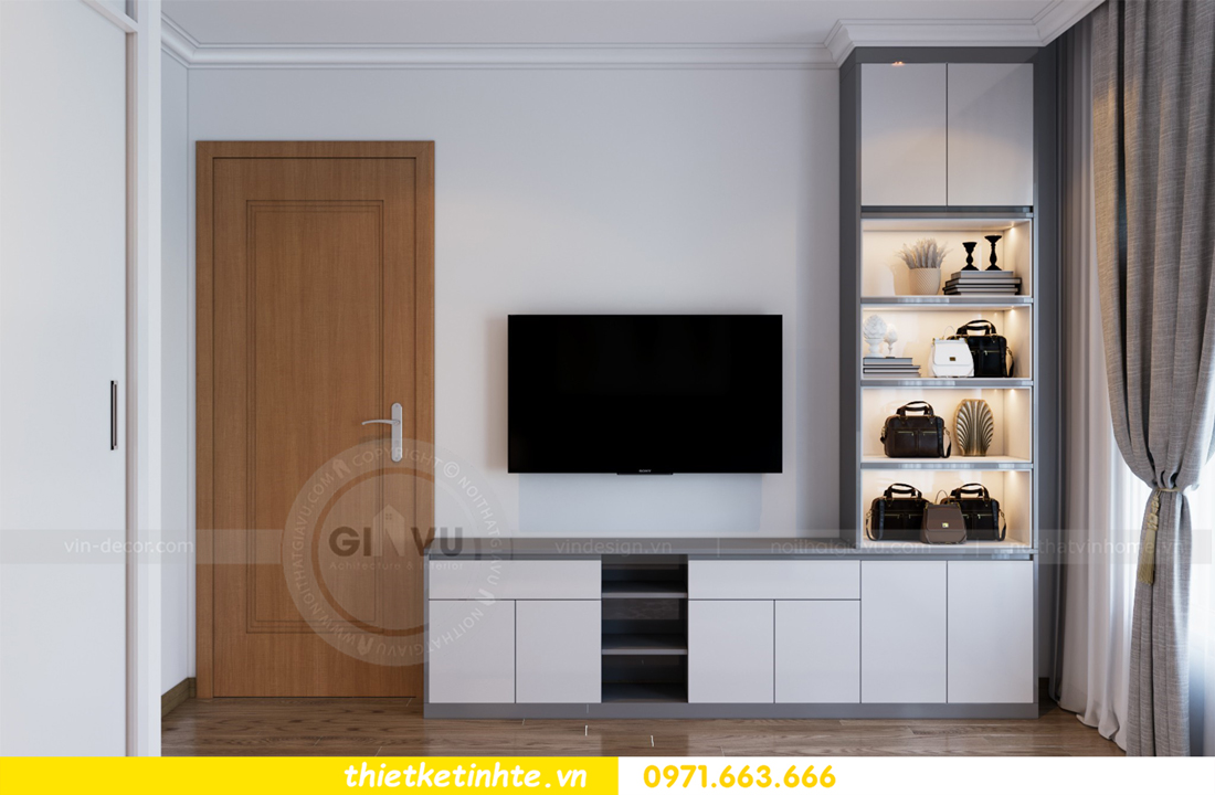 thiết kế nội thất căn hộ Vinhomes Park Hill 8 căn hộ 02 nhà chị Vân 08