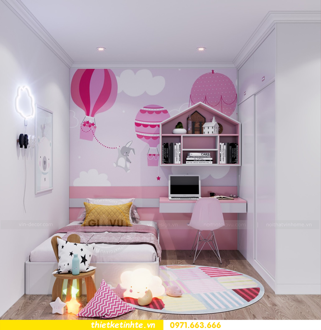 thiết kế nội thất căn hộ Vinhomes Park Hill 8 căn hộ 02 nhà chị Vân 10