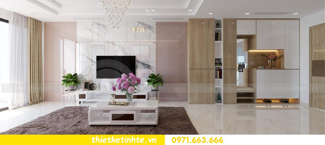 thiết kế nội thất chung cư Mandarin Garden căn hộ số 13 nhà anh Kiên 01