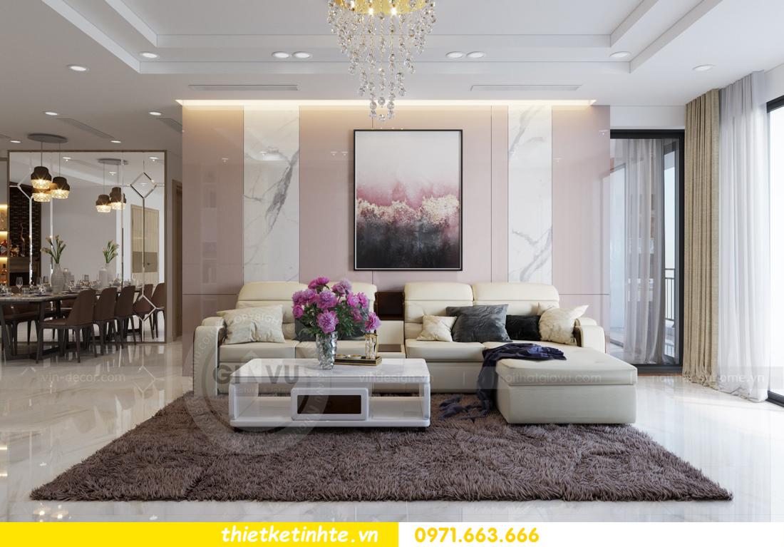 thiết kế nội thất chung cư Mandarin Garden căn hộ số 13 nhà anh Kiên 02