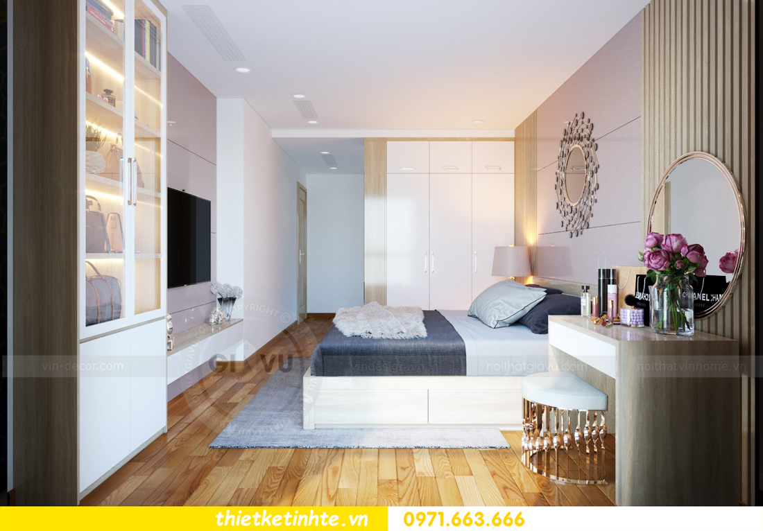 thiết kế nội thất chung cư Mandarin Garden căn hộ số 13 nhà anh Kiên 06