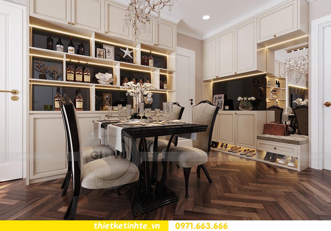 thiết kế nội thất chung cư Vinhomes D'Capitale căn hộ 07 01