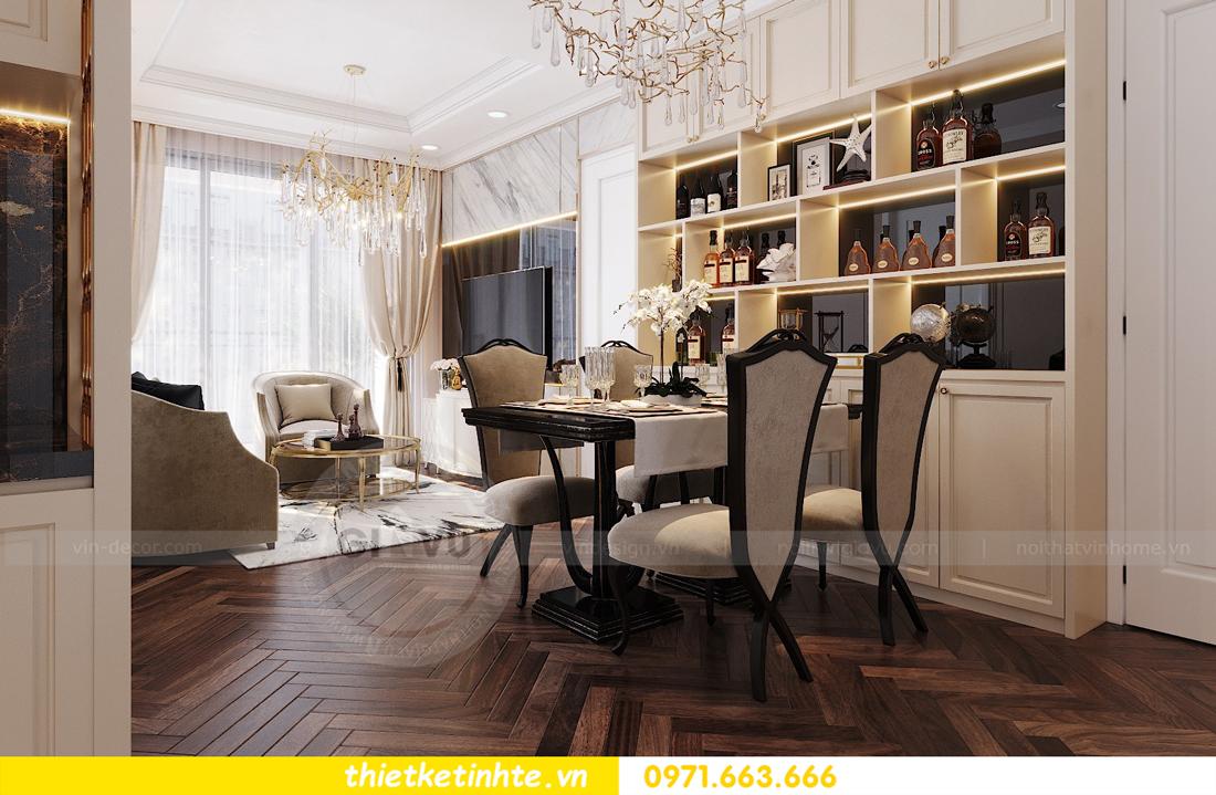 thiết kế nội thất chung cư Vinhomes D'Capitale căn hộ 07 02