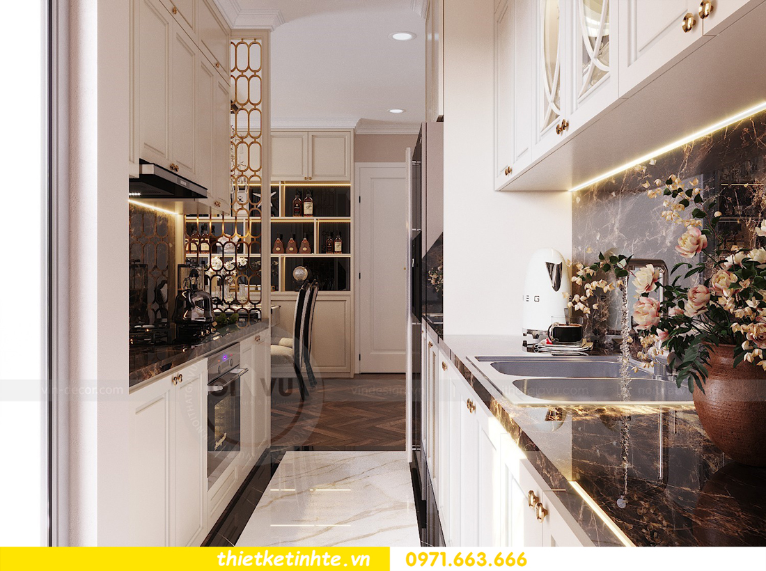 thiết kế nội thất chung cư Vinhomes D'Capitale căn hộ 07 05
