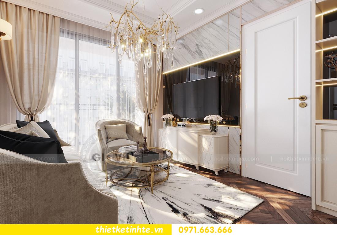 thiết kế nội thất chung cư Vinhomes D'Capitale căn hộ 07 06