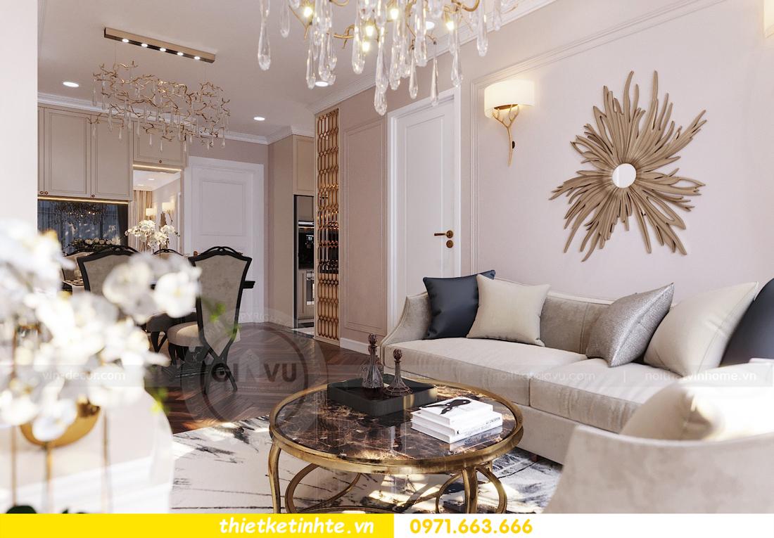 thiết kế nội thất chung cư Vinhomes D'Capitale căn hộ 07 08