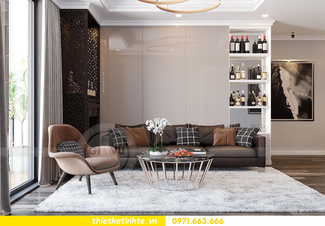 thiết kế nội thất căn hộ Park Hill 7 12B nhà anh Tân 01