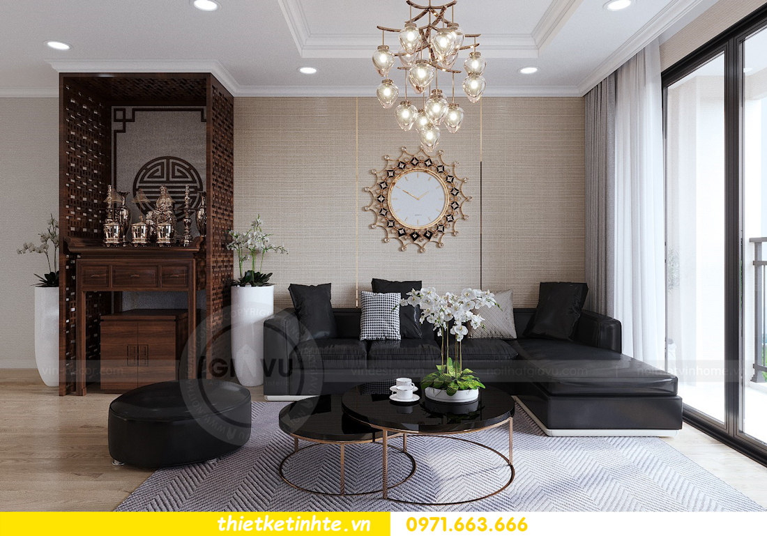 thiết kế nội thất căn hộ Vinhomes Gardenia tòa A2 căn 12b 04