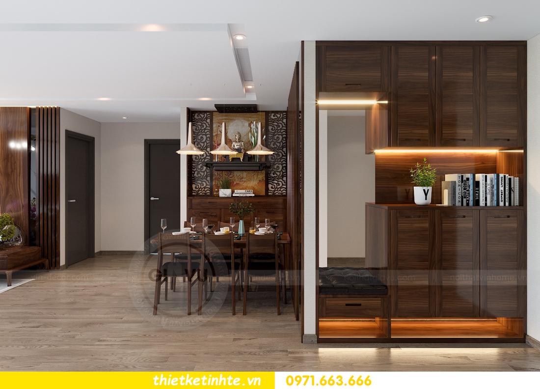 thiết kế nội thất gỗ óc chó tại chung cư Metropolis M2 0602 chú Bình 01