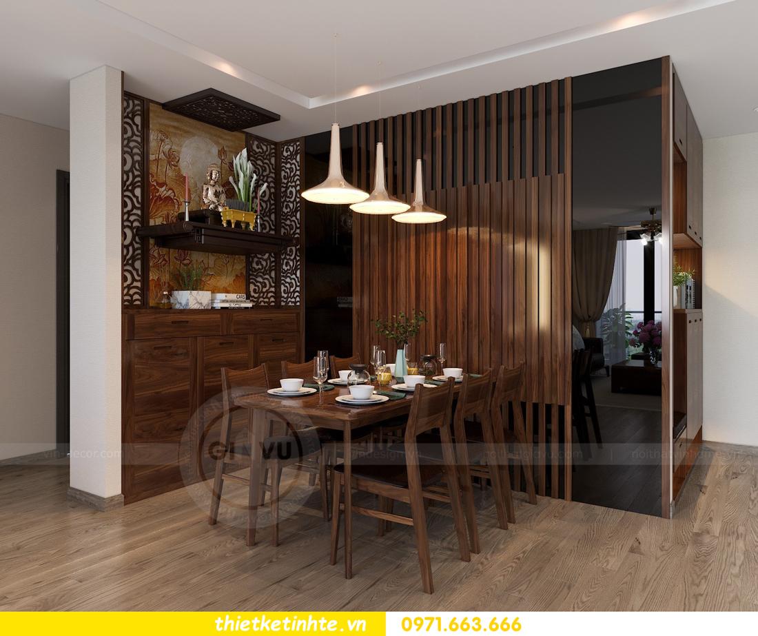 thiết kế nội thất gỗ óc chó tại chung cư Metropolis M2 0602 chú Bình 02