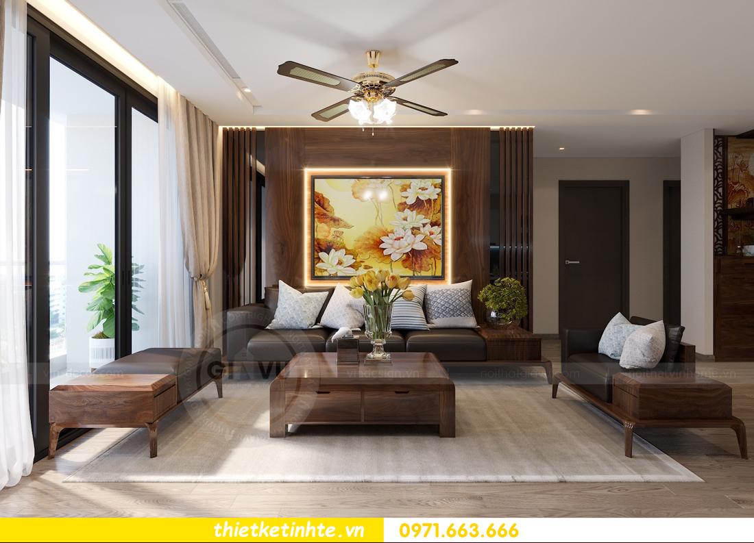 thiết kế nội thất gỗ óc chó tại chung cư Metropolis M2 0602 chú Bình 04