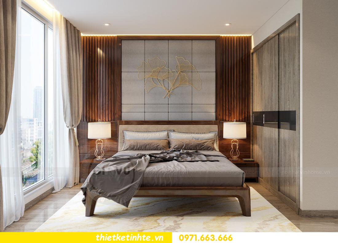 thiết kế nội thất gỗ óc chó tại chung cư Metropolis M2 0602 chú Bình 07