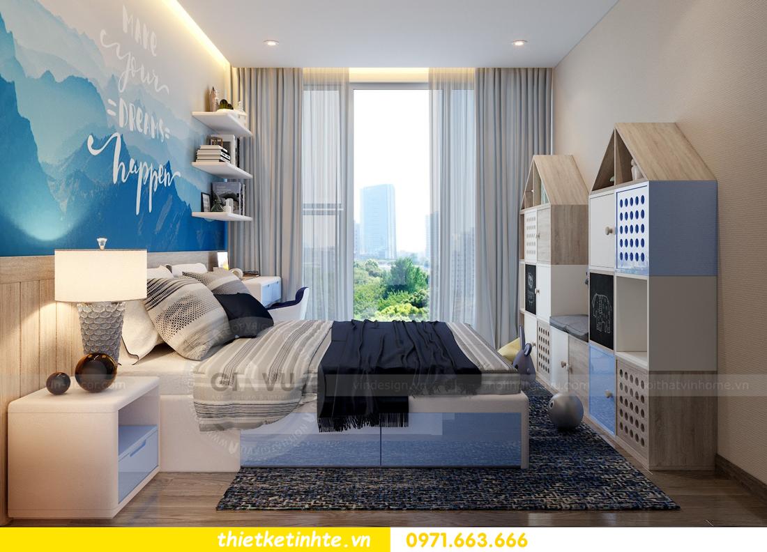 thiết kế nội thất gỗ óc chó tại chung cư Metropolis M2 0602 chú Bình 12