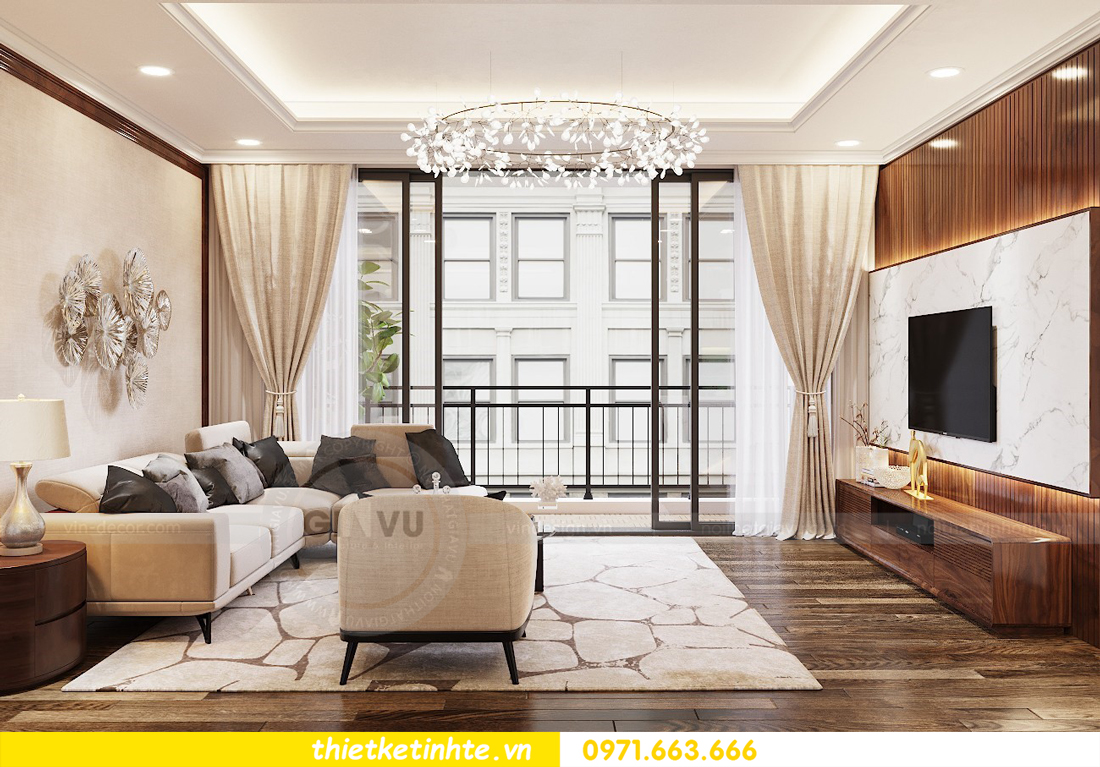 thiết kế nội thất chung cư DCapitale tòa C3 căn 04 nhà anh Hòa 03