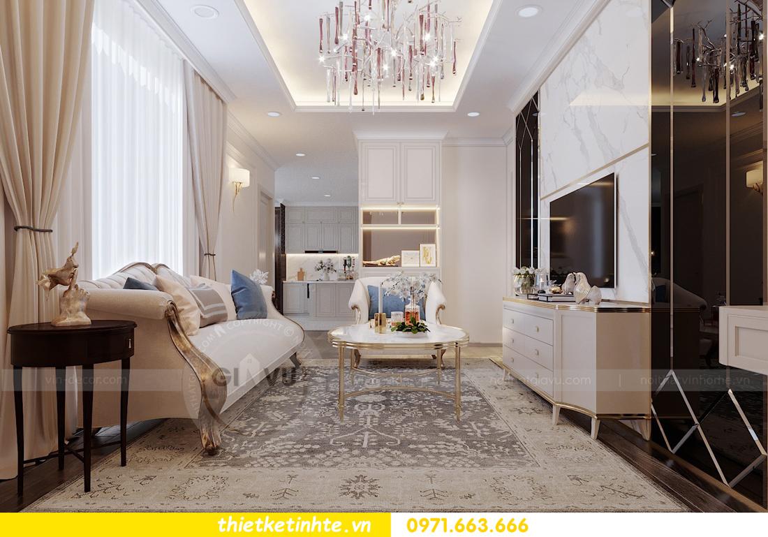 thiết kế thi công nội thất chung cư Green Bay tòa G1 05-05A chị Thu 01
