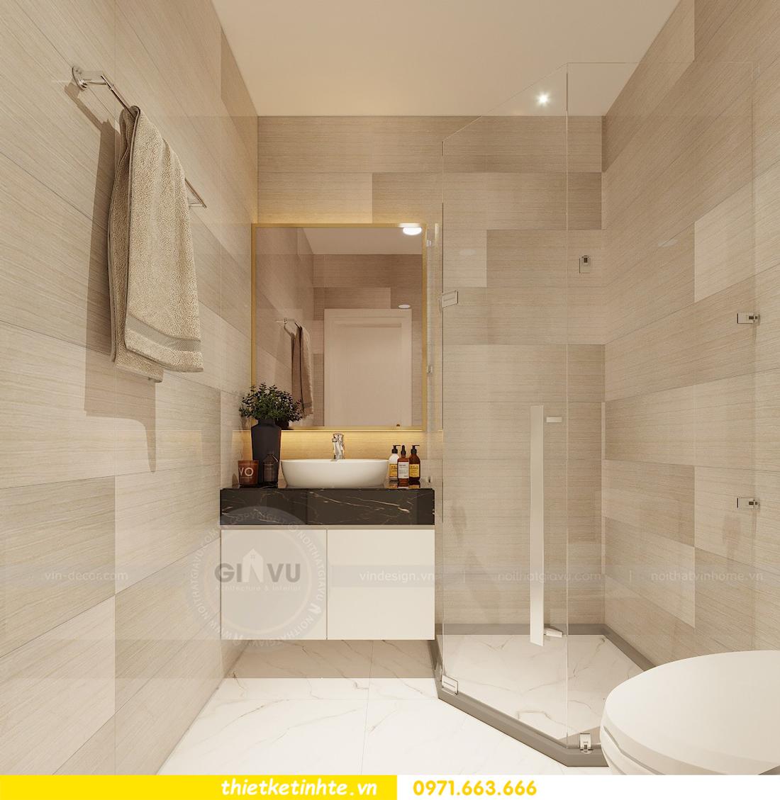 thiết kế thi công nội thất chung cư Green Bay tòa G1 05-05A chị Thu 08