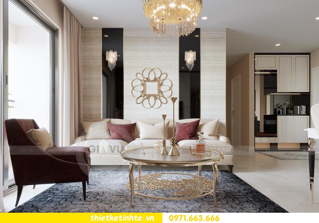 thiết kế nội thất chung cư hiện đại tòa C3 căn 05 Vinhomes D Capitale 02