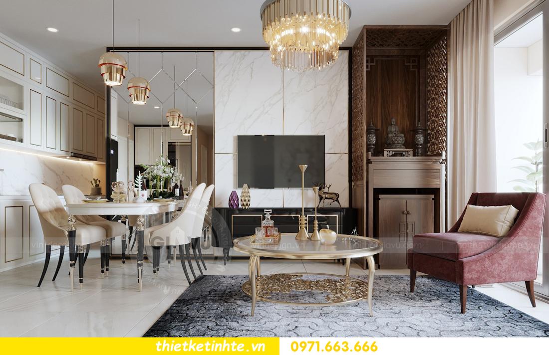 thiết kế nội thất chung cư hiện đại tòa C3 căn 05 Vinhomes D Capitale 03